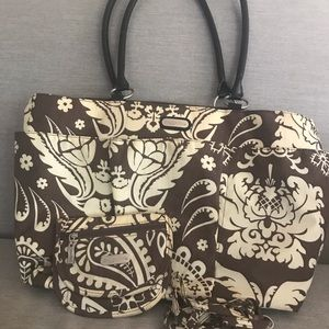 Baggalini travel tote with bonus travel bag!